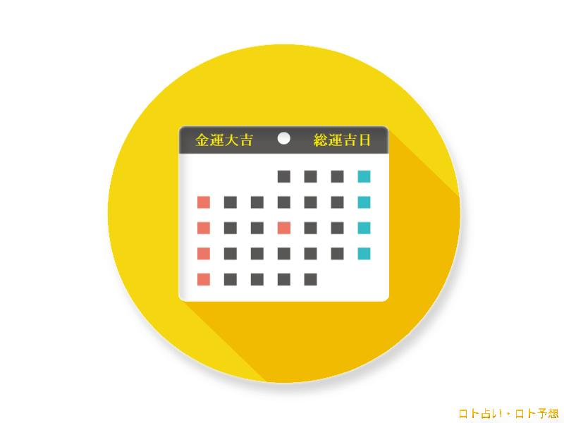 吉日カレンダー ロト占い・ロト予想